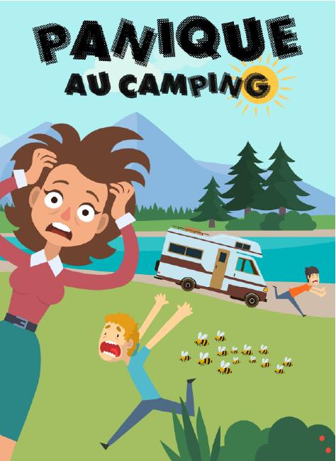 escape game camping mer